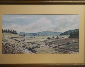 Signed John Kollock Water Color Print Limited Edition #411/500, PA2815, Shipping Not Free!!!