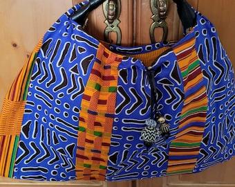 Ankara hobo style purse
