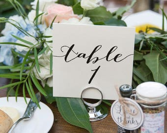 Wedding Table Numbers, Table Numbers Printable, Rustic Table Numbers, Tented Table Numbers, Folded, Template, PDF Instant Download #BPB165_7