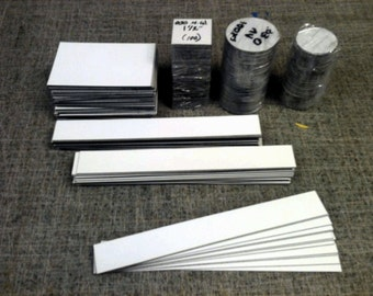 Magnet - Peel n Stick Magnet Strips - Assorted Sizes - 6-7 SqFt