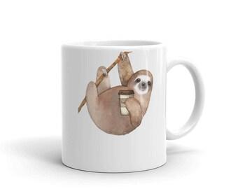 Sloth Coffee Mug | Sloth Mug | Christmas Coffee Mug | Sloth Coffee Cup | Cute Sloth Mug | Funny Mug | Sloth Gift | Christmas Gift