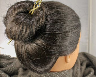 Golden Double Sided Hair Sticks
