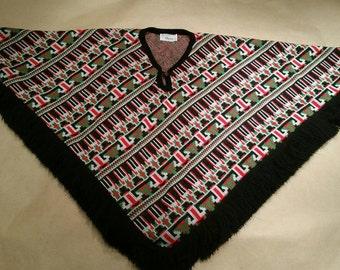 Vintage poncho, J. C. Penney brand. Holiday poncho