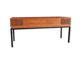 Mid Century Modern Repurposed Stereo Console w/ Modern Turntable | Modern Eletronics | Highly Upgraded | Bluetooth