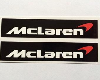2 McLaren Die Cut Decals