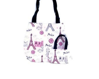Matching Doll and Girl Purses,  Eiffel Tower, Paris, France Purses for  18 Inch Dolls and Their Girls