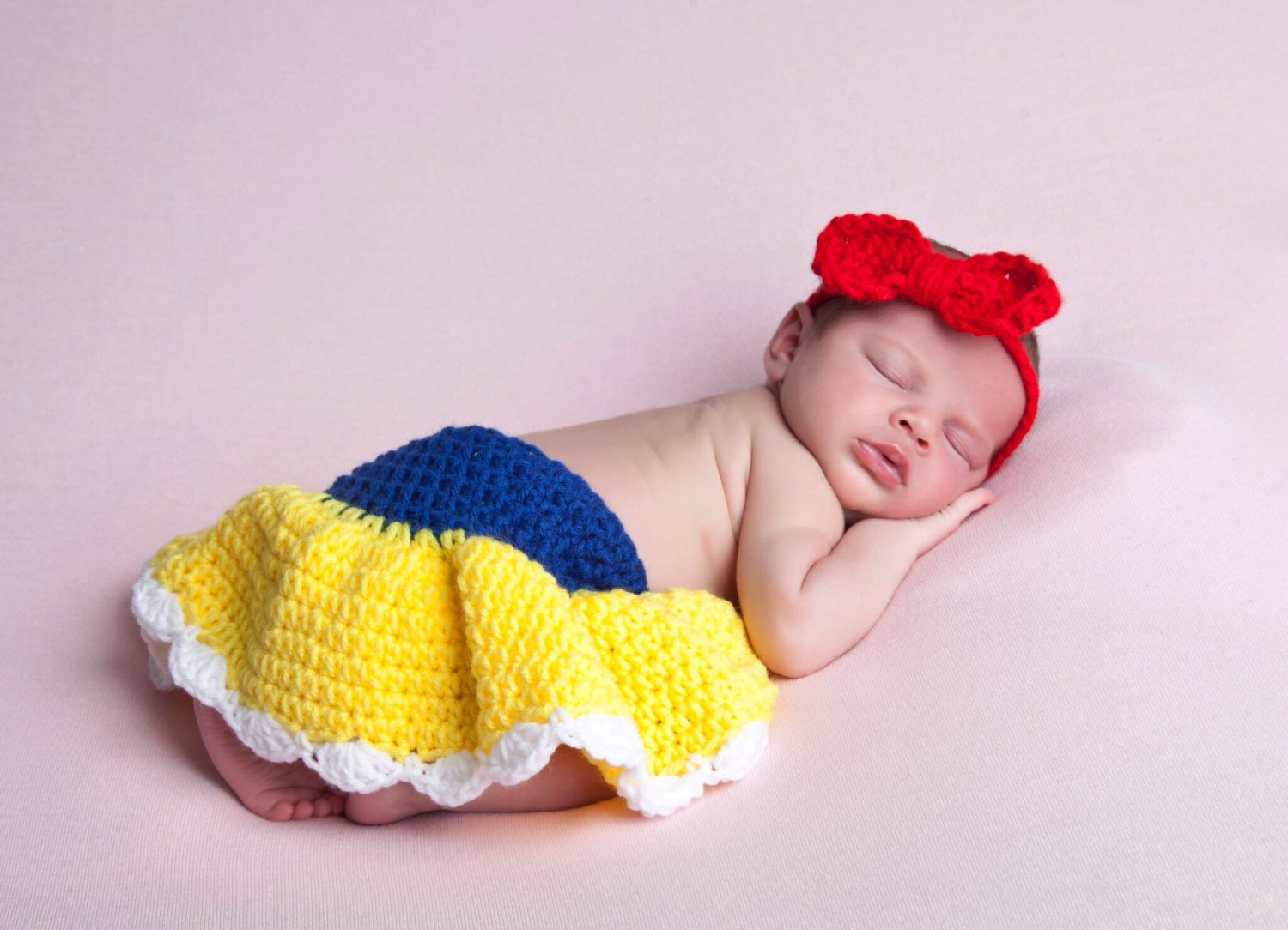 ?zoom  sc 1 st  Etsy & Newborn Photo Prop Baby Princess Outfit Crochet Baby Set