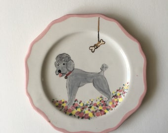 Pink Pooch and Golden Bone Plate