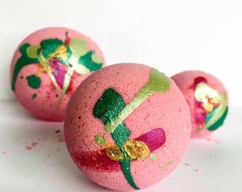 Glitter Bath Bomb ~ Pink Bath Bomb ~ Pink Bath Water ~ Glitter Bath Fizzy ~ Pink Salt Bath Bombs ~ Natural Bath Bomb ~ Organic Bath Fizzies
