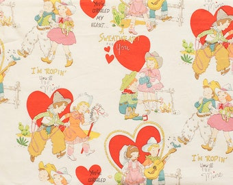 NEW - Alexander Henry Fabric - I'm Roping You'll Be Mine - Tea Dye - Novelty Fabric - Choose Your Cut 1/2 or Full Yard