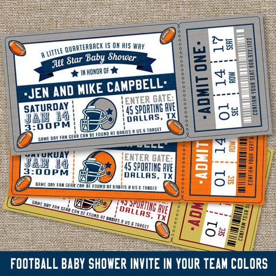 Marvelous Football Baby Shower Invitations Football Baby Shower