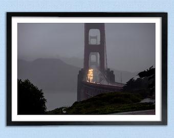 Drenching Rain at The Golden Gate Bridge - San Francisco