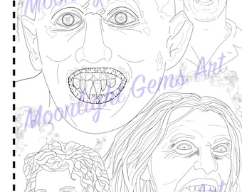 Salem's Lot • Colouring Page • Poster