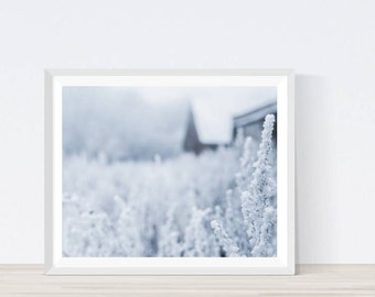 Hoafrost, Winter Art, Winter Decor, Scandinavian Art Print, Winter Wall Art, Winter Landscape, Winter Wall Decor, Modern Scandinavian Print