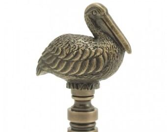 LAMP FINIAL Pelican antique metal