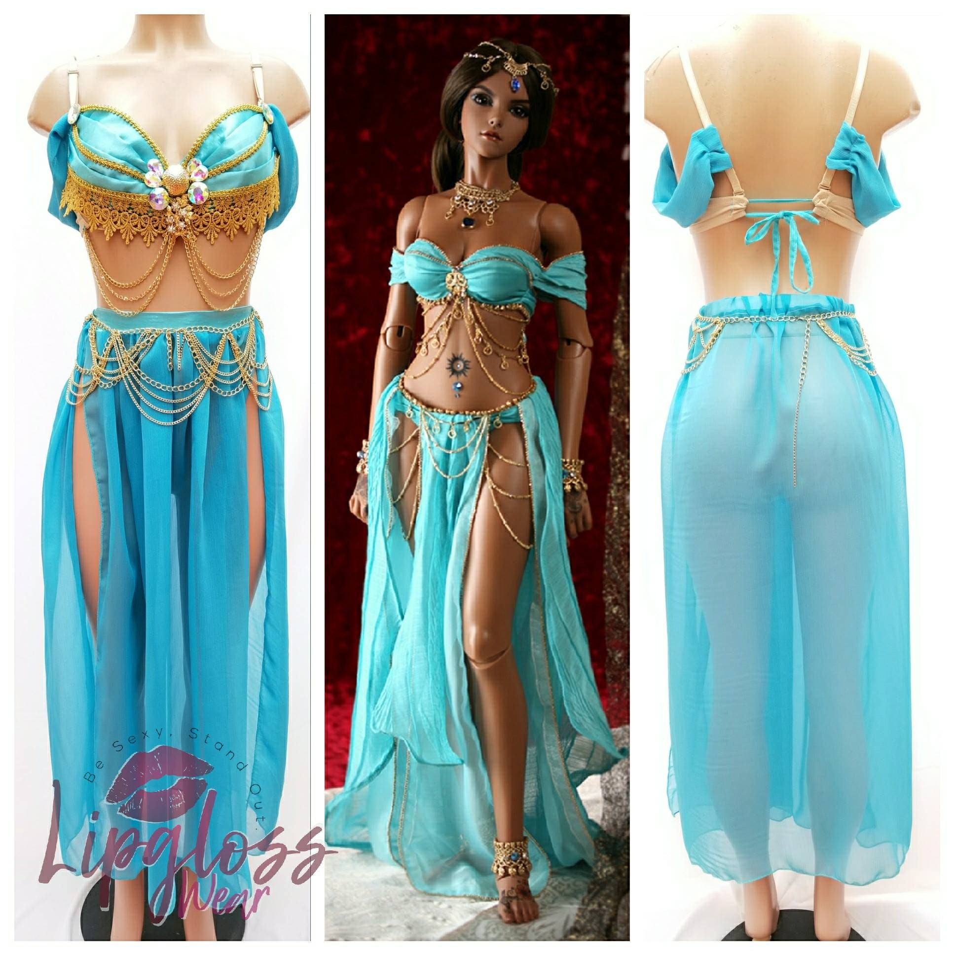 Jasmine princess costume egyptian princess costume princess - Robe jasmine disney ...