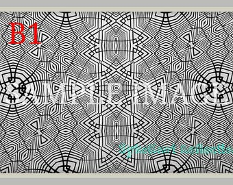 Pack of 10 Colorable Prints 11in x 17in