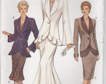 Awesome Skirt Suit Pattern Vogue 8850 Sizes 8 10 12 Uncut