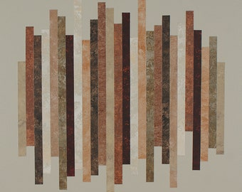Reconstruction No. 4 - Modernist abstract collage painting.