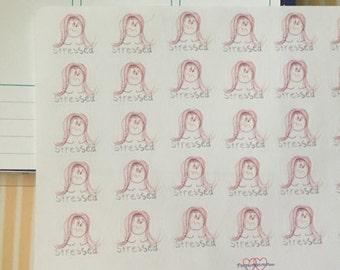 Stressed Stickers