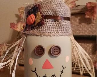 Quart size scarecrow mason jar