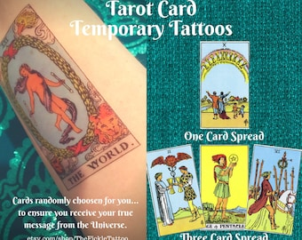 "Tarot Card Temporary Tattoos - ""See What Your Future Holds..."""
