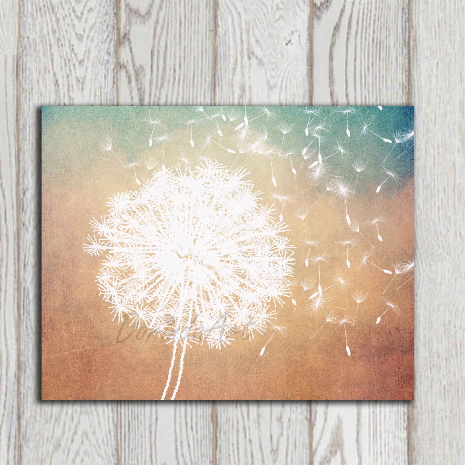 Dandelion poster print Dandelion Wall art printable Copper