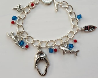 Shark in the pond! Charm bracelet inspired by Jaws