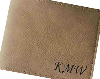 Personalized Wallet, Leather Wallet Mens, Engraved Leather Wallet, Mens Leather Wallet, Gifts for Groomsmen, Groomsman Gift, Bi Fold Wallet