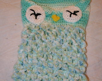 blue owl cocoon with hat