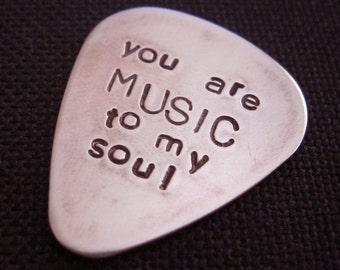 Sie sind Musik für meine Seele... angepasste / personalisierte Handstamped Kupfer Gitarre Kommissionierung
