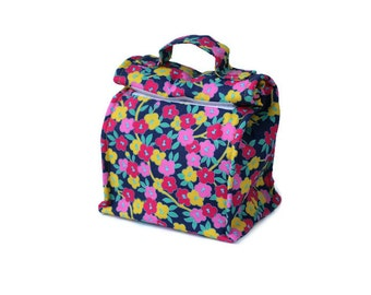 Insulated lunch bag with handle - Flowers
