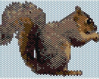 Peyote pattern for Squirrel