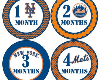 NY Mets Baby Monthly Stickers