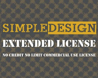 No Limit No Credit Commercial Use License for ONE item listing