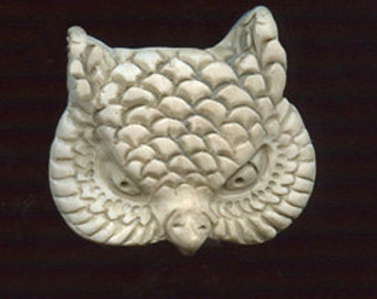 Polymer Undrilled OWL Face Cab Faux Marble OWL 1