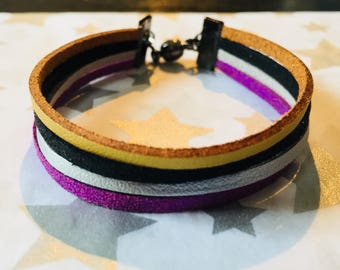 Bracelet leather and suede