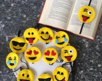 Bookmark Felt Emoticons