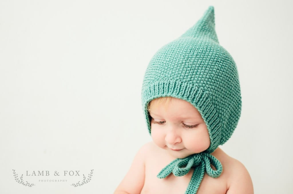 5d153433465 ... authentic knitted baby hat with pom pom pixie hat knitting pattern  tutorial pdf knitting pattern to