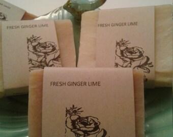 Fresh Ginger Lime Natural Bath Soap