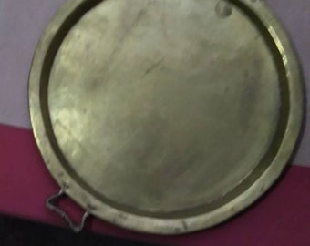 Russian  Butlers Tray circa 1900 to 1917 Antique. Large brass and copper Serving Tray