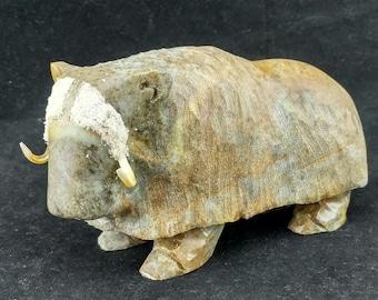 Musk-ox, Taylor, Tuktoyaktuk, Inuvialuit, Inuit Carving, Canadian, Traditional, John Taylor, Inuvik