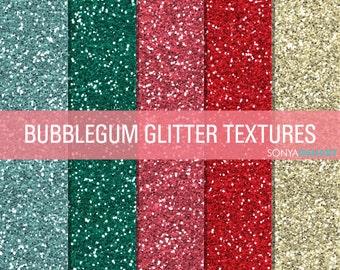 Bubblegum Glitter, Digital Papers, Glitter Digital, Glitter Papers, Glitter Textures, Glitter Backgrounds, Digital Glitter