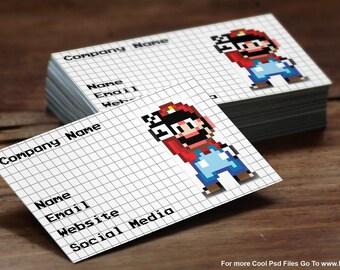 Perler Bead Business Card Layout