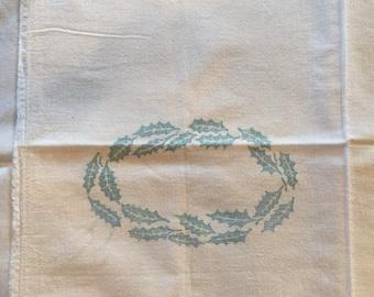Sugar Sack, white  muslin with Holly print