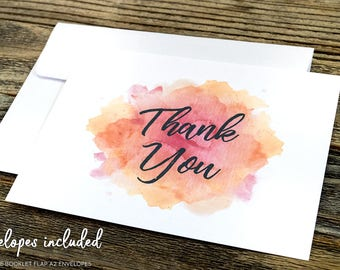 Set of Thank You Notecard. Boho Thank You Cards. Blank Thank You Card. Modern Notecard. Personal Notecards.
