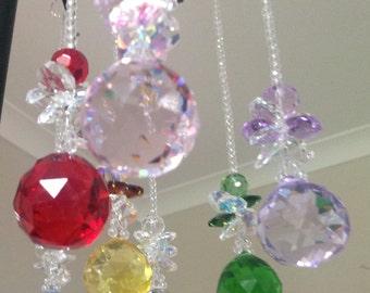 Hanging crystal glass sun catcher light catcher beaded sun catcher window decoration garden accessory