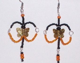 WHIMSICAL butterfly dangle earrings