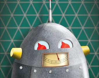 Roboter Art Print - Roboter Wand - Kind Dekor - Kunst für Jungen Zimmer - 8 x 10-Druck - Roboter - Roboter-Dekor - Fotodruck für Kinderzimmer