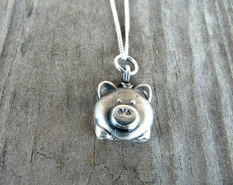 Pig - Pig Gifts - Pig Necklace - Pig Pendant  - Pig Jewelry - Vegan - Pig Lovers - Animal Jewelry - Mini Pigs